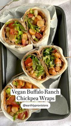 Tasty Vegetarian Recipes, Vegan Dinner Recipes, Veg Recipes, Whole Food Recipes, Cooking Recipes, Vegetarian Wraps, Healthy Snacks, Healthy Recipes, Vegan Recipes Healthy Clean Eating
