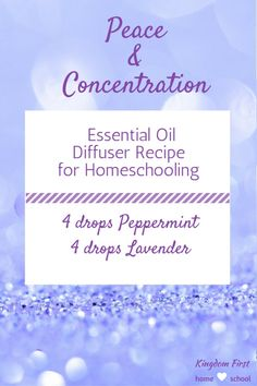 This is my go to essential oils diffuser recipe for homeschooling. Keeps them calm and focused while doing their school work.