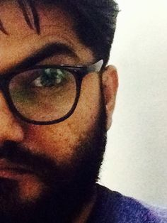 That's close! #selfie #beard  No #eye for an eye! 😆