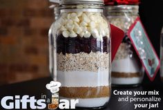 Fantastic! Make them an instant chef with one of their many cookies in a jar mixes. Just add a few ingredients and bake, Oila! >> cookies in a jar , gifts in a jar --> www.giftsinajar.net