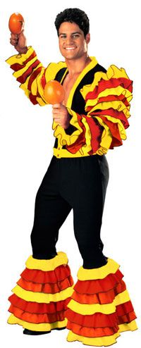 Adult Super Deluxe Calypso Man Costume - Mexican or Spanish Costumes