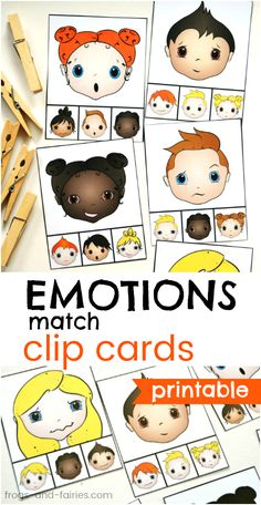 This activity is a fun way for helping children learn to recognize different emotional expressions!
