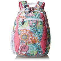 High Sierra Curve Backpack, Henna Dragon/Pink Lemonade/White/Ash, 18.5 x 12.5 x 8.5-Inch
