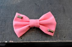 Coral Studded Bow - Mini by Rae Arts