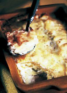 Potato Gratin with Gruyère and Crème Fraîche Bon Appétit  | November 2002
