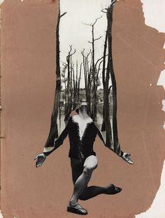 Vem perder cabeça com as colagens manuais feitas pelo artista OjeRum | IdeaFixa