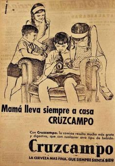 Ad absurdum: ¡Camarero, otra pa'l crio! Vintage Ads, Vintage Posters, Old Ads, Cool Photos, Nostalgia, Advertising, Marketing, Humor, History