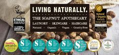 The Soapnut Apothecary! Soap Nuts, Mineral Oil, Apothecary, Sustainability, Healthy Living, Organic, Vegan, Green, Handmade