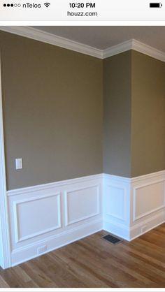 Waynescoting-Formal living room ideas