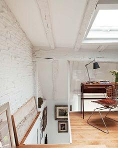 despacho #Decoración #buhardillas #Dormers #garrets #attics