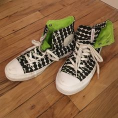 Marimekko Converse Chuck Taylor High Tops Purchased at a Marimekko sample sale in 2014. Worn a handful of times, so only the white rubber soles show some stains. Otherwise in very good condition. Men's 4 1/2, aka women's 6 1/2 Converse Shoes Sneakers