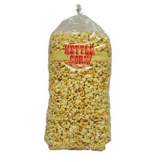 #2706 Large Kettle Corn Bags from Gold Medal Products Co. Save your Kettle Corn in these new 2 mil thick poly bags. Packed 1,000 bags per case with twist ties to close. Also available in medium.