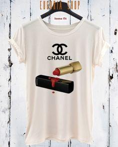 chanel lipstick t-shirt, anishar t-shirt, eugoria t-shirt, fashion t-shirt