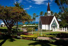 The church on the beach in Hawaaii