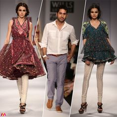 Vineet Bahl's collection at  Wills Lifestyle India Fashion Week #WLIFW. Read more: http://stylemynt.com/2012/10/09/boho-chic-with-contemporary-ethnic/