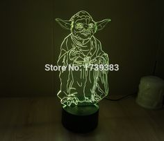 Free Shipping 1 Piece 3D led Mood Lamp Bulb Lighting 3D Star Wars Master Yoda LED little Night Light holiday decoration light-in Night Lights from Lights & Lighting on Aliexpress.com | Alibaba Group