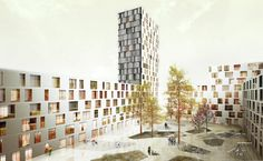 Urban Lab Global Cities (ULGC): A skimming through Urban Block Competition Architecture Drawings, Architecture Design, Rotterdam, Tower Block, Tower Building, Residential Complex, Social Housing, Urban Planning, Competition
