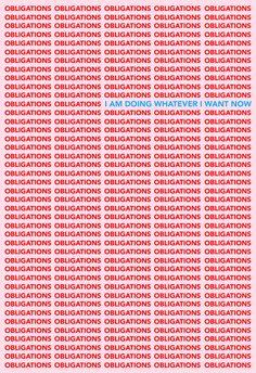 No obligations