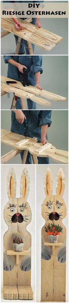 Aus Schalbrettem oder Altholz kannst du tolle Deko für Ostern bauen – zum Beispiel große Osterhasen. Wir haben Telefonboards in Hasenform gebaut und zeigen dir in der Bauanleitung Schritt für Schritt, wie es geht.