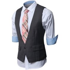 d03cb21a7eb9 H2H Mens Fashion Business Suit Layered Vest With Chain Ri...   Wear    Pinterest   Men s fashion, Men s suits and Fashion