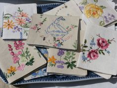 Vintage embroidered linen needlecases by Pretty Goods by Deborah Good, via Flickr