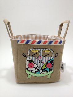 Summery VW Camper Fabric Storage Basket by LaPetiteMaisonBlanc, £15.00