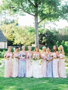 Pastel floral bridesmaid dresses: http://www.stylemepretty.com/texas-weddings/houston/2016/02/01/bright-whimsical-houston-zoo-wedding/ | Photography: Awake Photography - http://www.awakephotographers.com/