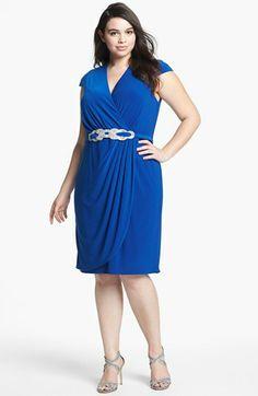 Alex Evenings Embellished Faux Wrap Dress (Plus Size) | Nordstrom