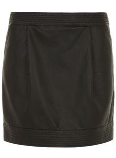Black leather look tulip skirt - Skirts  - Clothing