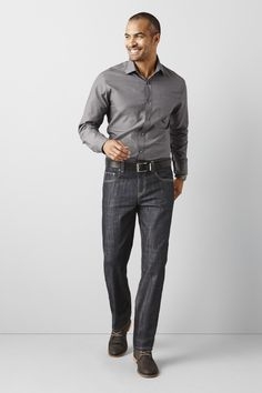 7117c5033f Take your buttoned-up looks beyond with this lustrous cotton shirt from  Claiborne
