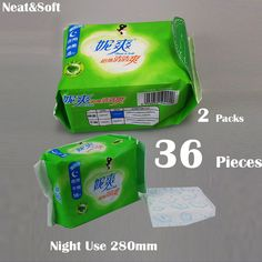Find More Feminine Hygiene Product Information about 36Pieces=2Packs Neat&Soft Most Sold Night Use Sanitary Napkins 280mm Cheap Chinese Beautiful Life Tampons Hygienic Pads,High Quality napkin party,China napkins placemats Suppliers, Cheap pad boy from Freemore Flagship Store on Aliexpress.com