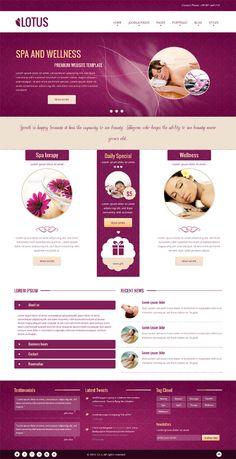 Lotus, Joomla Responsive Purple SPA Salon Template #Spa #Salon #Massage #Beauty #Website