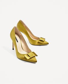 2d20818cf48 SATIN COURT SHOES WITH BOW - High-heels-SHOES-WOMAN