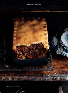 Beef, Guinness and mushroom pie by Donna Hay. looks delicious! Irish Recipes, Beef Recipes, Cooking Recipes, Recipies, Strudel, Empanadas, Quiche, Great Recipes, Favorite Recipes