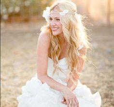 Wedding Tiara, Flower Crown, White whimsical fairy wedding, bridal accessories, wedding hair  - SARAH -. $75.00, via Etsy.