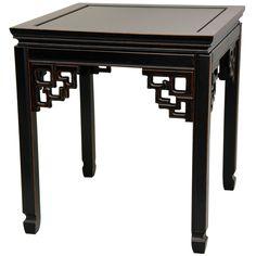 Handmade Rosewood Antique Black Square Ming Table (China) (Rosewood Square Ming Table - Antique Black (China))