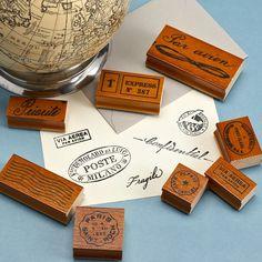 Par Avion Vintage Rubber Stamps