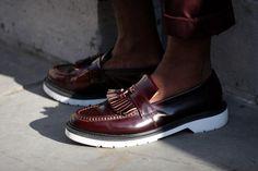 Streetsnaps: Tassel Loafers  Location: London Fashion Week