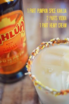 Use Kahlúa's Limited Edition Pumpkin Spice to make these Autumn Russians - it's like pumpkin pie in a glass! This is a limited drink that is sold during fall. I bought a bottle from my grocery store. It is delicious. Especially if you're a pumpkin addict like me.