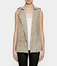 Rona Sleeveless Biker Jacket // AllSaints // $598
