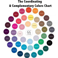 44 coordinating & complementary colors to help you create a palette!