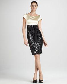 Sequin-Skirt Dress by Neiman Marcus at Neiman Marcus.