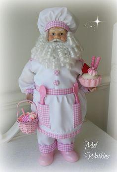 Pink Chef Santa Claus <3