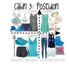 """Cabin 3: Poseidon"" by aquatic-angel on Polyvore featuring Sugar NY, Joe's Jeans, Converse, Bling Jewelry, Journee Collection, Prada, LE VIAN, Charter Club, NIKE and PBteen"