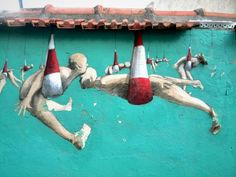 Philippe Herard - street art - Paris 20, rue des couronnes (sept 2014)