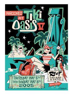 "Tiki Oasis V Show Print16"" x 20"" - Limited Edition of 100"