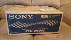 CD Players and Recorders: Sony Rcd-W500c - Cd Recorder With 5 Disc Cd Changer (Complete In Open Box) New -> BUY IT NOW ONLY: $699.99 on eBay!
