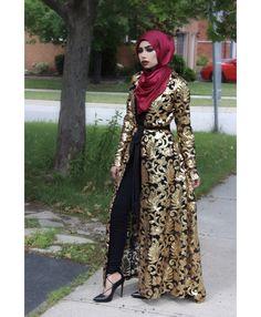 Hajib Fashion, Abaya Fashion, Modest Fashion, African Fashion, Fashion Dresses, Muslim Women Fashion, Islamic Fashion, Hijab Style Dress, Hijab Outfit