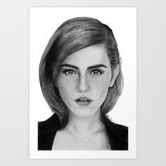 Emma Watson. Drawing by me. Buy it now!