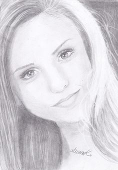Nina Dobrev - Sketching by Laura Kordikova in My Drawings at touchtalent 75250